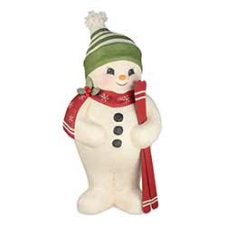 Large Paper Mache Snowman With Skis