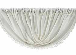 Antique White Tobacco Cloth Balloon Valance