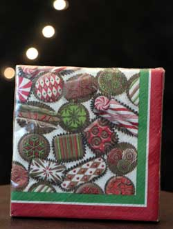 Chocolate Holiday Paper Cocktail Napkins