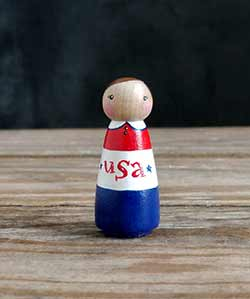 USA Peg Doll Girl
