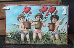 Vintage Valentine Postcard Plaque