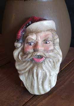 Small Vintage Santa Face