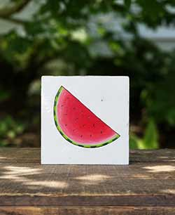 Watermelon Hand Painted Sign
