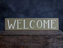 Welcome Wood Sign (Green)