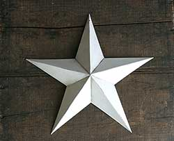 White Barn Star (Multiple Size Options)