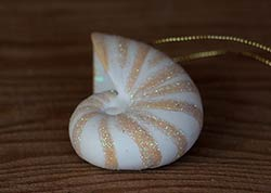 Mini Shell Ornament - Snail