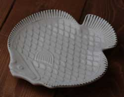 Nautical Fish Plate - White