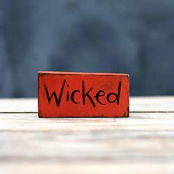 Wicked Mini Sign / Ornament