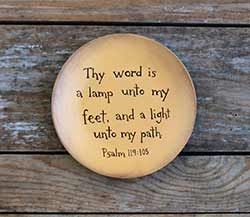 Thy Word Is A Lamp Unto My Feet Plate (Custom options available)