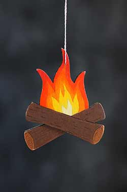 Campfire Personalized Ornament