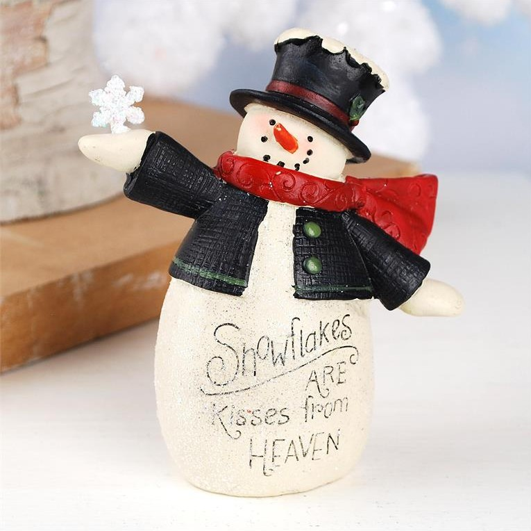 Blossom Bucket Primitive Snowman - Snowflakes are Kisses From Heaven - at The Weed Patch