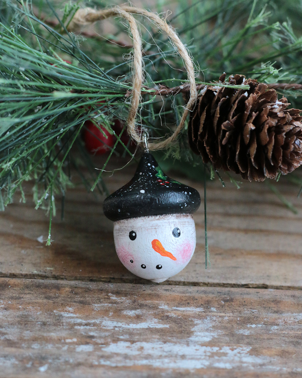 Primitive snowman christmas ornament at The Weed Patch