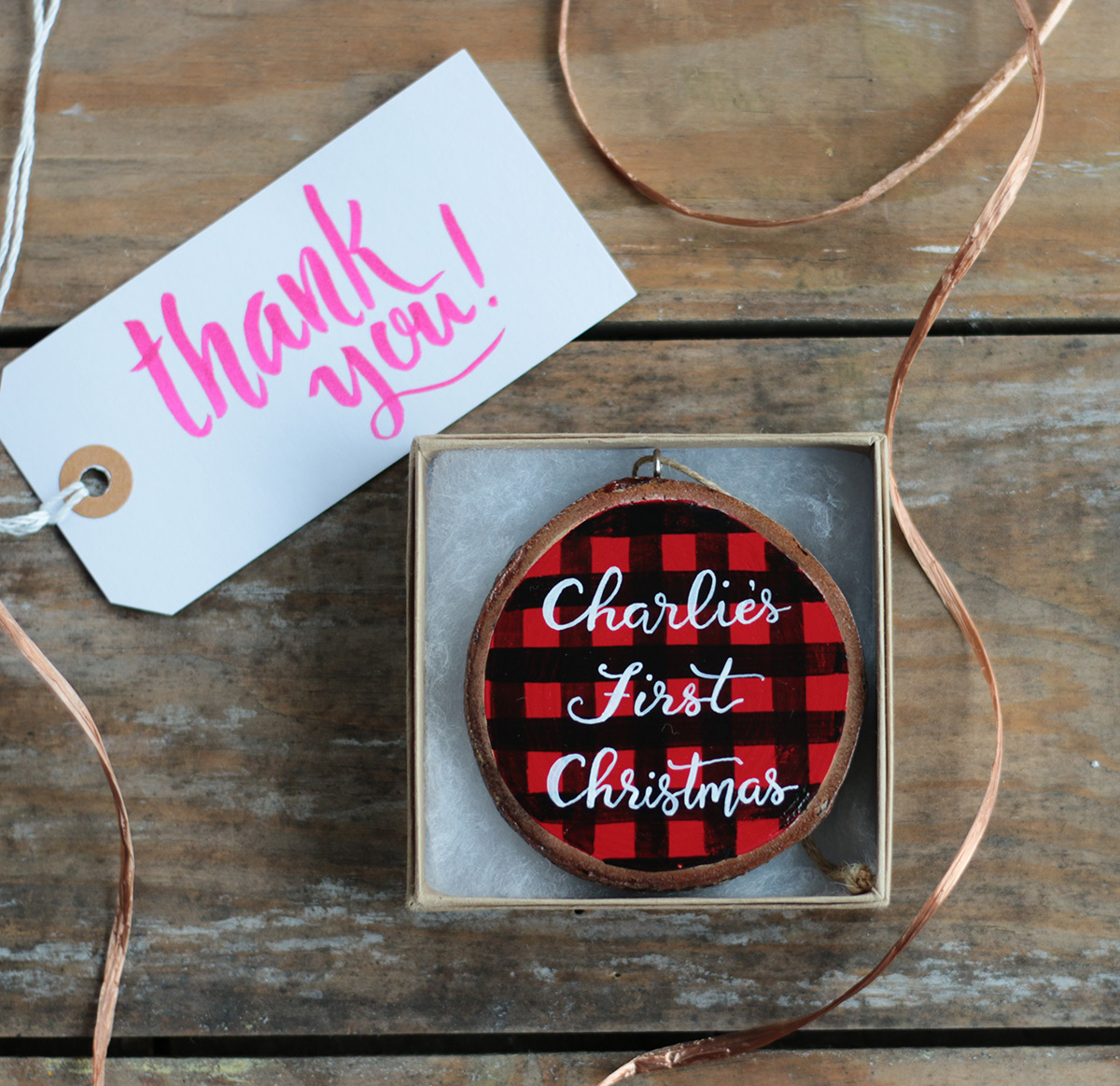 Hand Painted ornaments come in a gift box at The Weed Patch